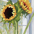 Indoor Sunflowers II by Trina Teele