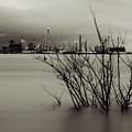 Industry On The Mississippi River, In Monochrome by Chris Coffee