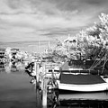 Infrared Boats At Lbi Bw by John Rizzuto