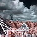 Infrared Glass Pyramids Panorama by Sandra Rugina