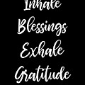 Inhale Blessings Exhale Gratitude Meditate by Sourcing Graphic Design