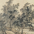 Ink Painting Landscape Bamboo Forest Rivers by Wang Hui
