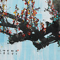 Ink Painting Plum Blossom Blue by Huang Yongyu