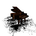 Inked Gold Piano by Barbara St Jean