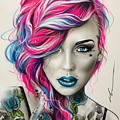 Inked Neon by Christian Chapman Art
