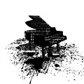 Inked Piano by Barbara St Jean