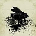 Inked Piano Sepia by Barbara St Jean