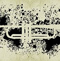 Inked Trumpet Sepia by Barbara St Jean