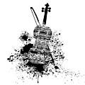 Inked Violin by Barbara St Jean