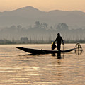 Inle Lake Fisherman by Michele Burgess
