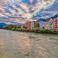Inn River, Innsbruck, Austria by Brenda Jacobs
