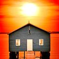 Blood Sunset Panorama by Az Jackson