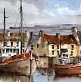 Innismore Harbour, Aran, Galway...01 by Val Byrne