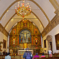 Inside Sanctuary At Carmel Mission-california  by Ruth Hager