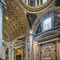 Inside St Peter's Basilica Rome by Michael Evans