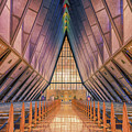 Inside The Cadet Chapel by Luis A Ramirez