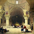 Inside The Church Of The Holy Sepulchre In Jerusalem by Munir Alawi