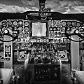Inside The Cockpit Black And White by Paul Ward