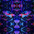 Inside The Electric Temple After Nightfall by Abstract Angel Artist Stephen K