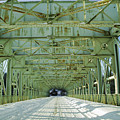 Inside The Falls Bridge - Winter by Bill Cannon