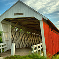Inside The Imes Covered Bridge by Adam Jewell