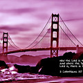 Inspirational - Nightfall At The Golden Gate by Mark Madere