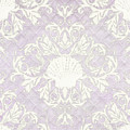 Inspired Coast Beach Seashell Damask Scrollwork Lavender by Audrey Jeanne Roberts