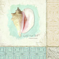Inspired Coast Collage - Queen Conch Shell Tile Patterns by Audrey Jeanne Roberts