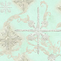 Inspired Ocean Vintage Ceiling Tile Scroll Abstract by Audrey Jeanne Roberts