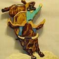 Intarsia Bull-rider by Russell Ellingsworth