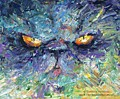 Intense Palette Knife  Persian Cat by Svetlana Novikova
