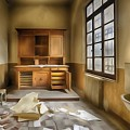 Interior Furniture Atmosphere Of Abandoned Places Dig Paint by Enrico Pelos