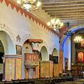 Interior Image Of San Juan Bautista Mission by Javier Flores