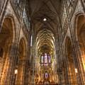 Interior Of Saint Vitus Cathedral by Gabor Pozsgai