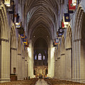 Interior Of The National Cathedral by Kenneth Garrett