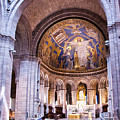 Interior Sacre Coeur Basilica Paris France by Jon Berghoff