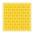 Interlocking Rectangular With Border In Mustard by Custom Home Fashions