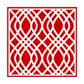 Intertwine Latticework With Border In Red by Custom Home Fashions
