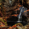 Intimate Autumn Waterfall by John Vose