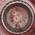 Intimately Pink Art Deco Modern Grunge Style Art by Isabella Howard