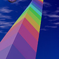 Into The Future - Rainbow Monolith And Planet by Mitch Spence