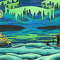 Inuit Love Arctic Landscape Painting by Kim Hunter
