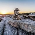 Inukshuk In Terence Bay, Nova Scotia by Mike Organ