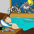 Invading Alien Robot by Aloysius Patrimonio