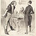 Inventaire Chez Un Veuf by Honor? Daumier