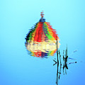 Inverted Hot Air Balloon Reflection by John Vose