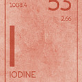 Iodine Element Symbol Periodic Table Series 053 by Design Turnpike