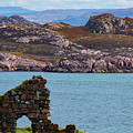 Iona Ruins And Mull Hills by Bob Phillips