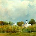 Iowa Cornfields by Sally Seago