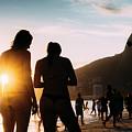 Ipanema, Rio De Janeiro, Brazil At Sunset by Alexandre Rotenberg